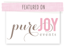 I was featured on Pure Joy Events button